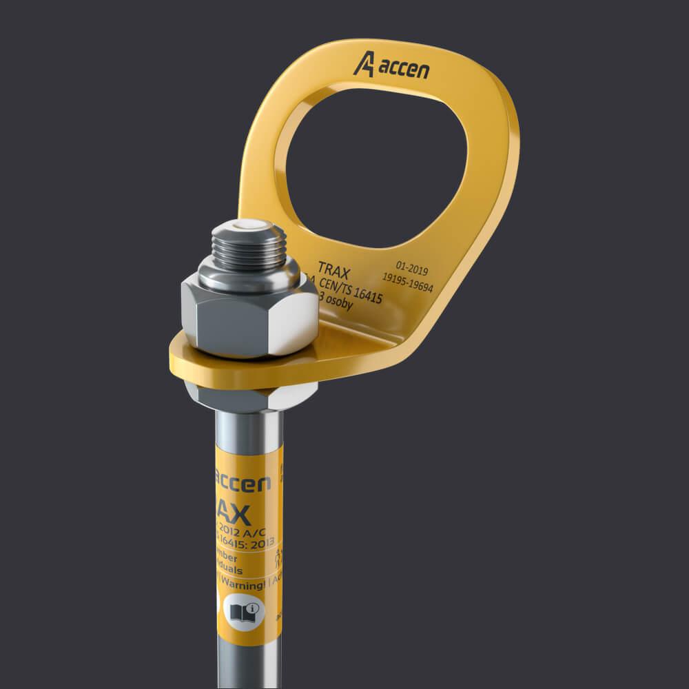 Accen Trax BX- Verankerungspunkt - Befestigung: Stahlbetonunterlagen, Rinnenplatten, Kanalplatten