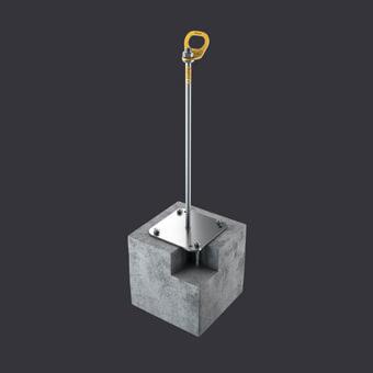 Trax BX Verankerungspunkt -Schutz für drei Personen- Befestigung: Stahlbetonunterlagen, Rinnenplatten, Kanalplatten
