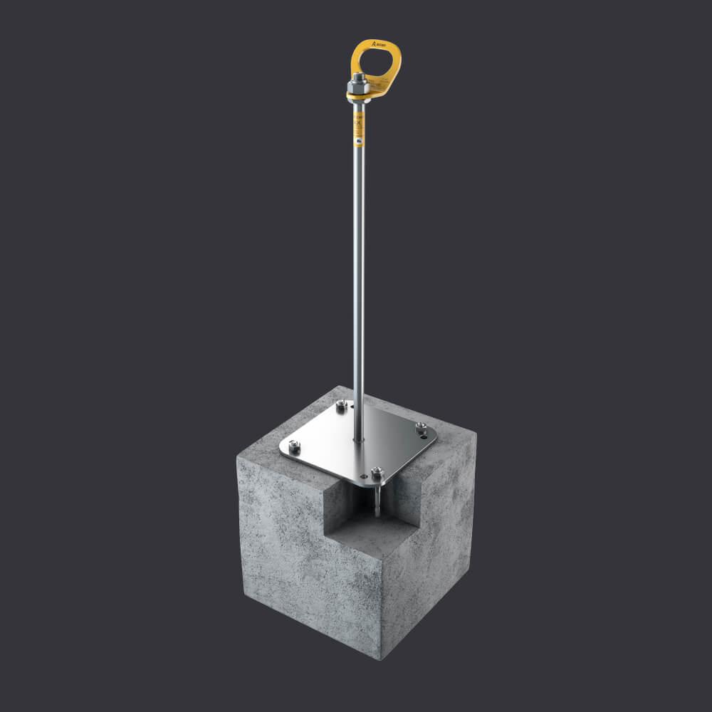 Accen Trax BX- Verankerungspunkt-Befestigung: Stahlbetonunterlagen, Rinnenplatten, Kanalplatten