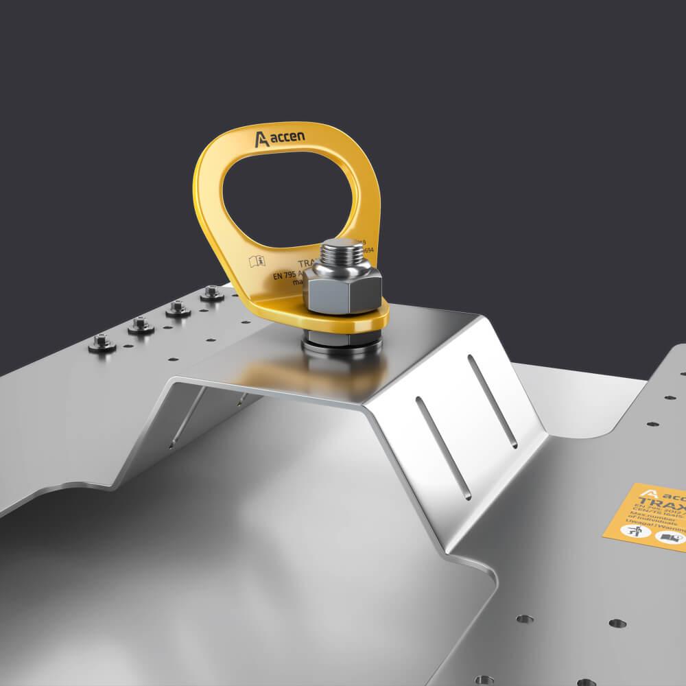 persönlicher Schutz für drei Personen-Trax PW Sicherungspfosten - Befestigung an Verbundplatte