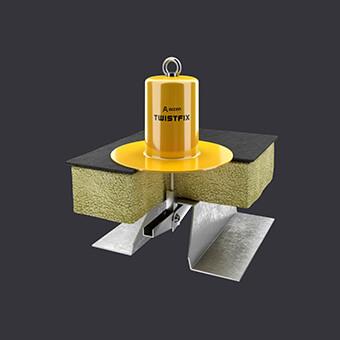 Twist FIX Verankerungspunkt -Schutz für zwei Personen- Flachdach mit Wärmeisolierung