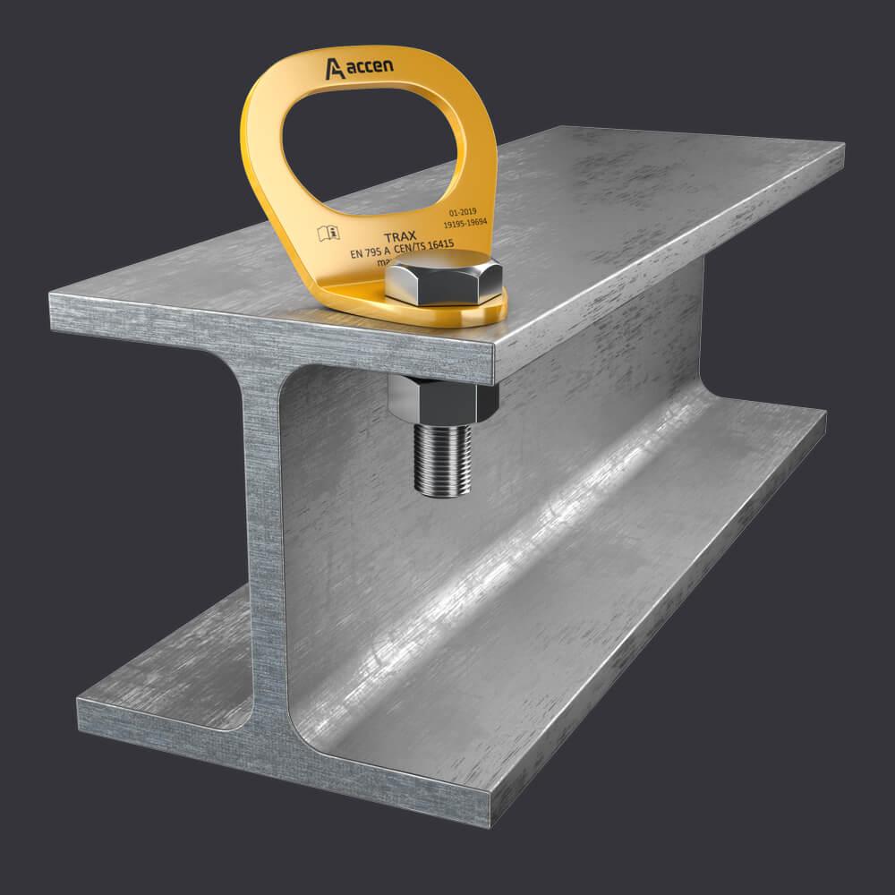 Accen Trax Light ST- punkt kotwiczacy für eine Person- Befestigung an Stahlkonstruktionen