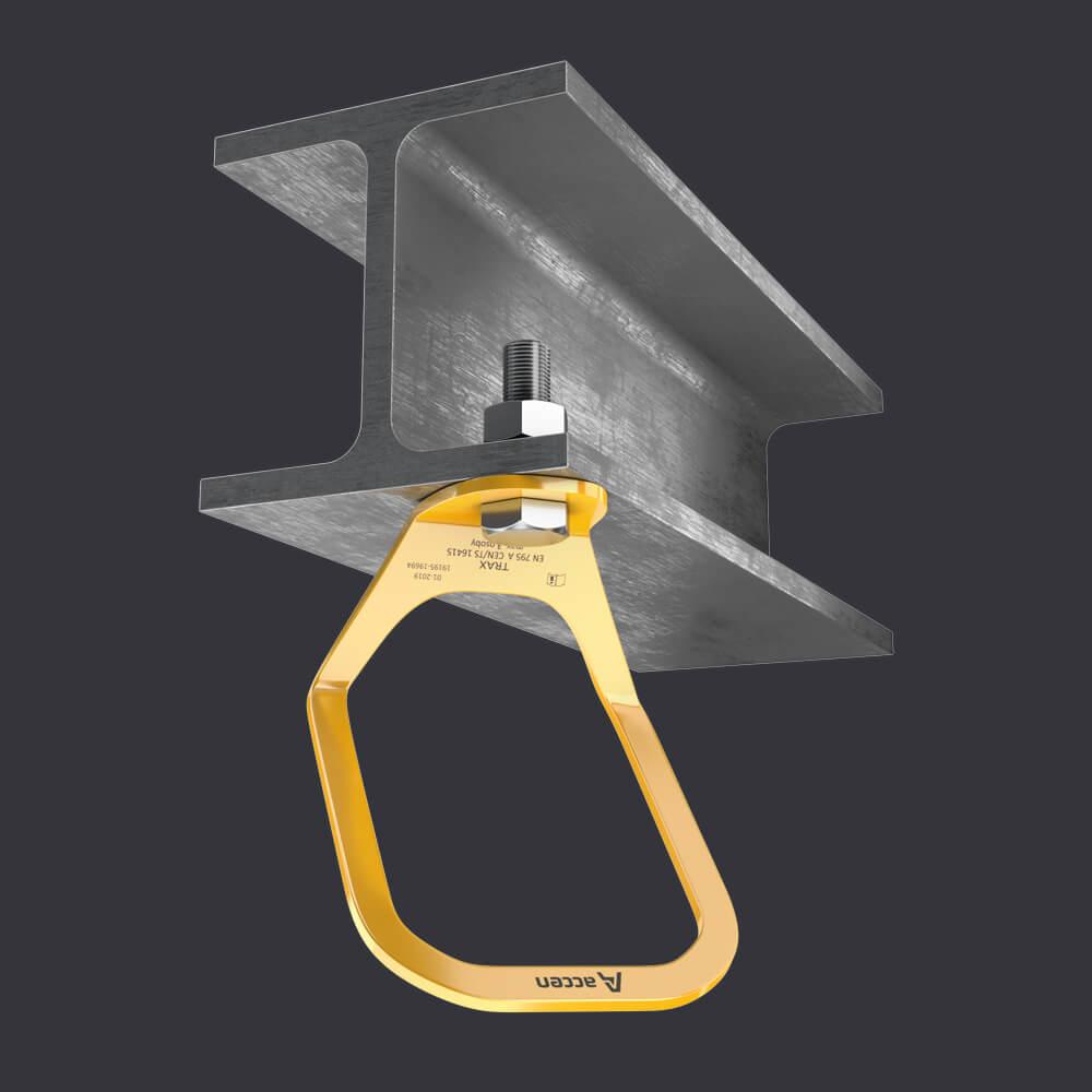 Accen Trax Light XL- Verankerungspunkt-Montage am Stahlbeton- und Stahluntergrund
