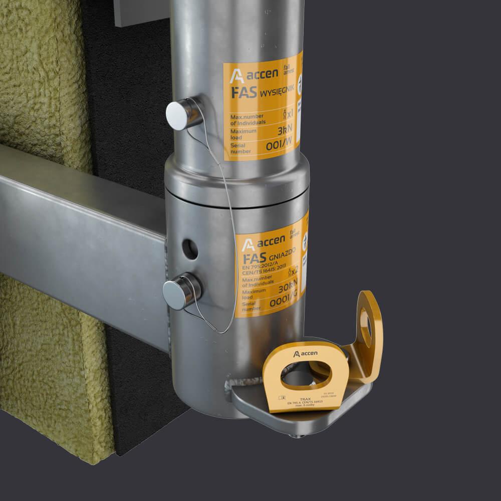 FAS AT Fassadenzugangssysteme - Attikabuchse- Montage an Stahlbetonattika
